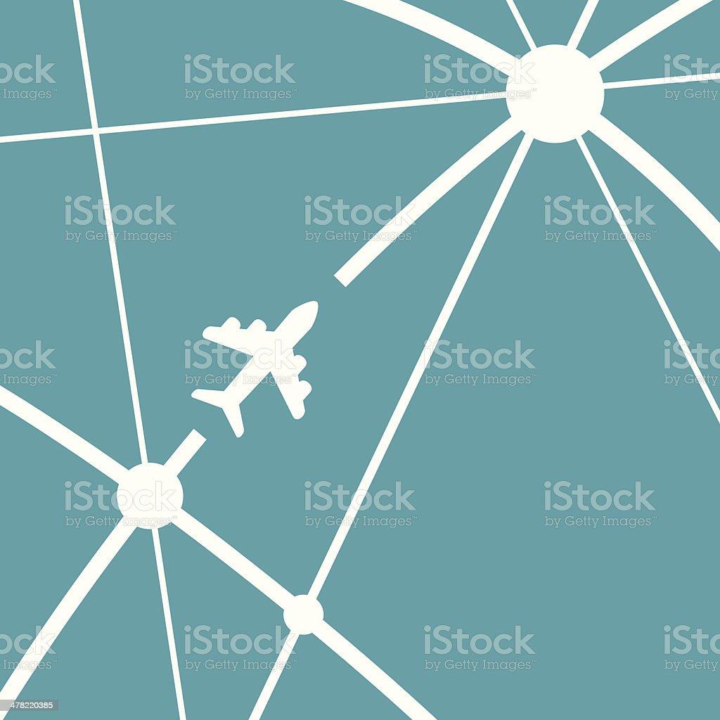 Air Travel - VECTOR vector art illustration