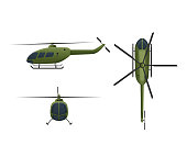 Air vehicles. Flying helicopter, for transportation. Air passenger helicopter