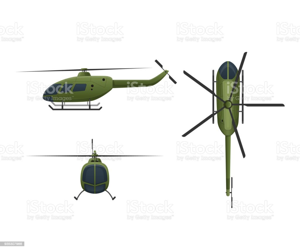 Air vehicles. Flying helicopter, for transportation. Air passenger helicopter vector art illustration