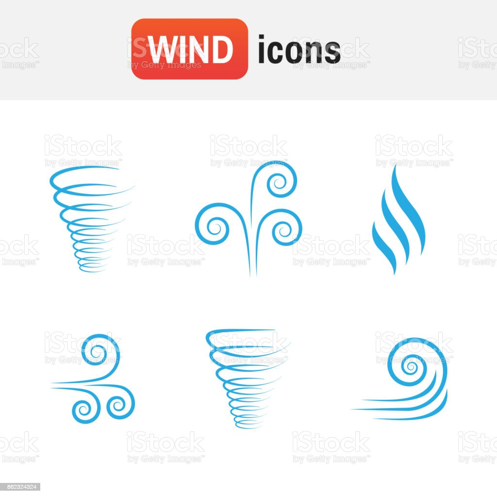 air wave vector. Illustration vector of wind icon collection vector art illustration