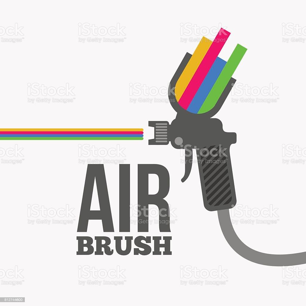 Airbrush or spray gun vector.