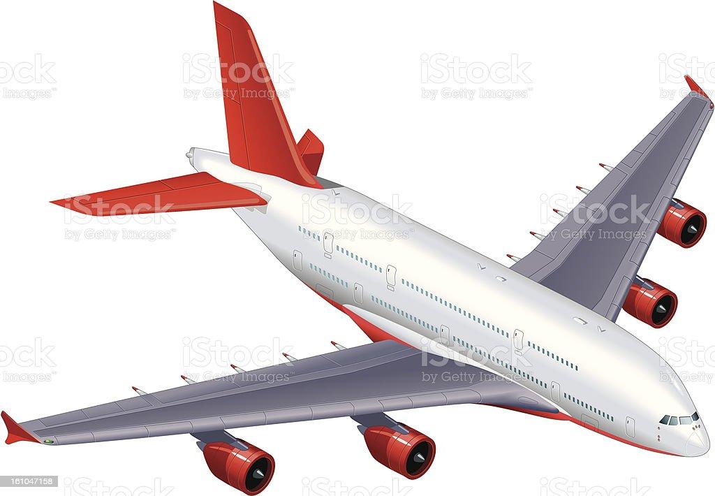 Airbus A380 avión Avión de pasajeros - ilustración de arte vectorial