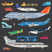 Aircraft and airport equipment.