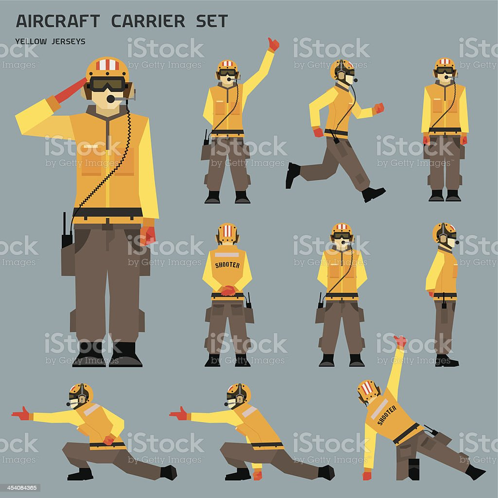 Aircraft carrier shooter vector art illustration