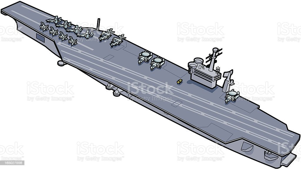 Aircraft Carrier royalty-free aircraft carrier stock vector art & more images of air vehicle