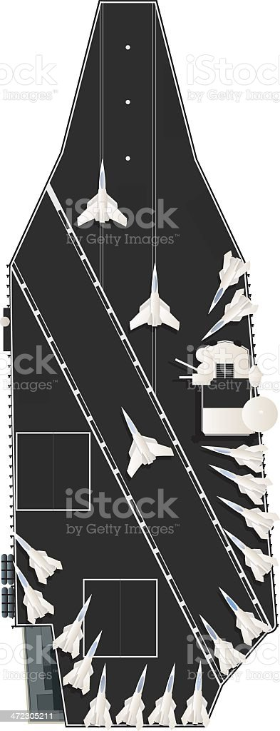 Aircraft carrier royalty-free stock vector art