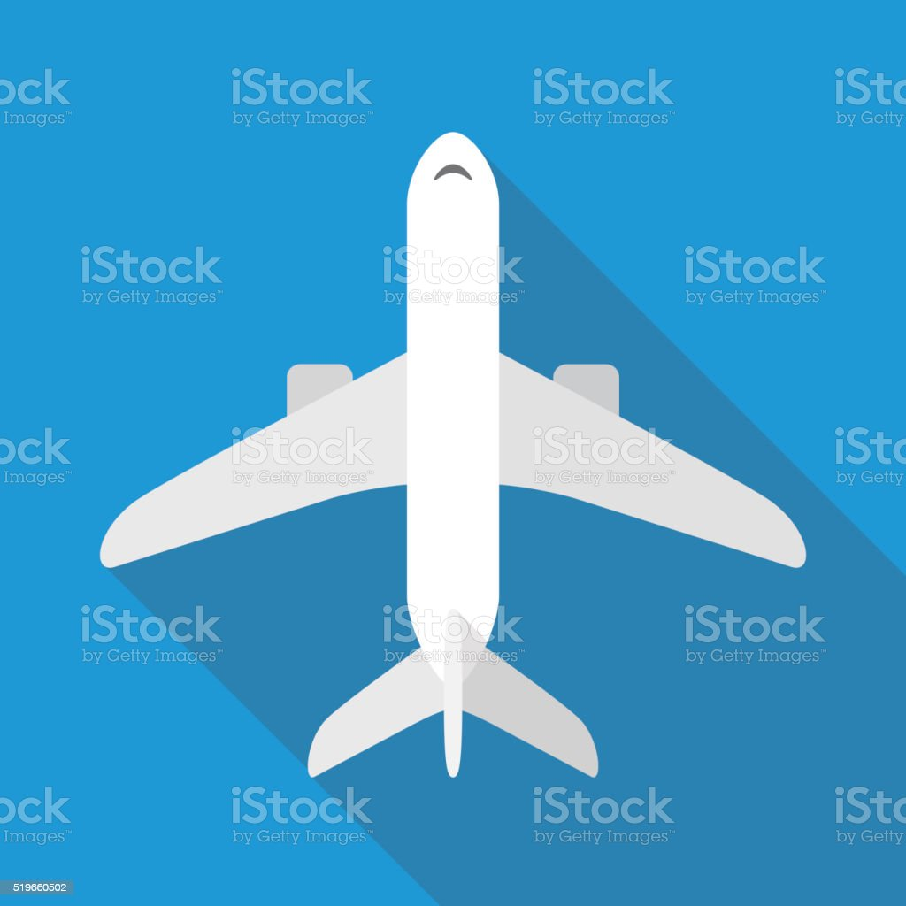 Aircraft Flat Plane Icon Stock Illustration - Download Image Now