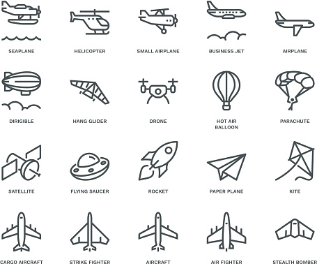 Aircraft Icons.