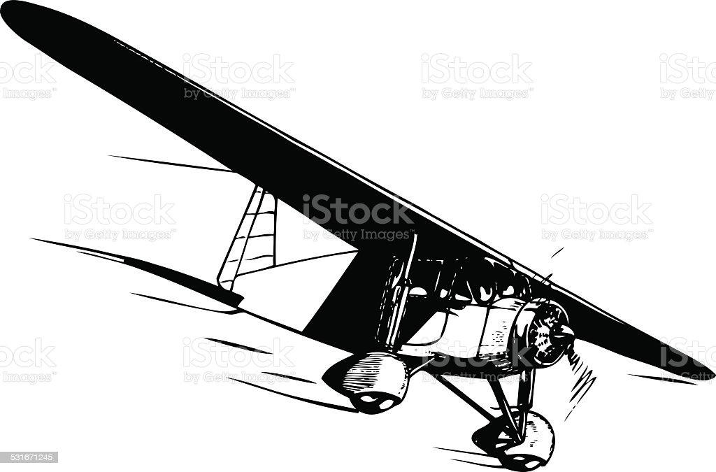 Aircraft in flight. vector art illustration