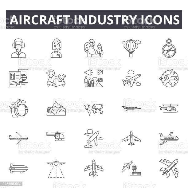Aircraft industry line icons editable stroke signs concept icons jet vector id1136893531?b=1&k=6&m=1136893531&s=612x612&h=zmufi8ckuyipd8z6sooas60v7qm5nko spxuoxhwcbm=