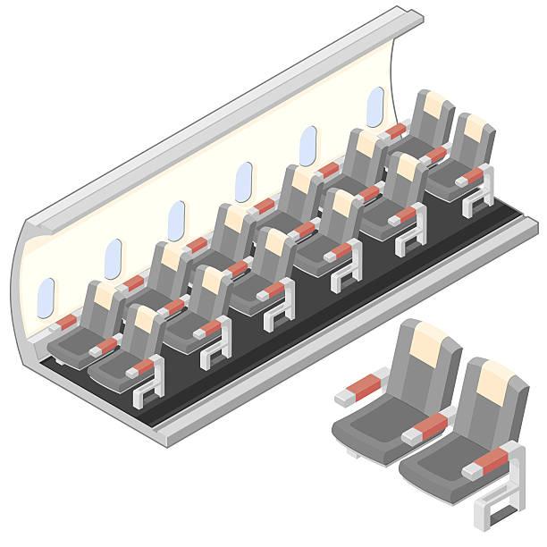 flugzeuge innen - fahrzeugsitz stock-grafiken, -clipart, -cartoons und -symbole