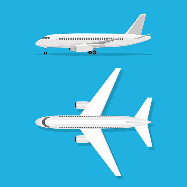 Aeronave está no chão - ilustração de arte em vetor