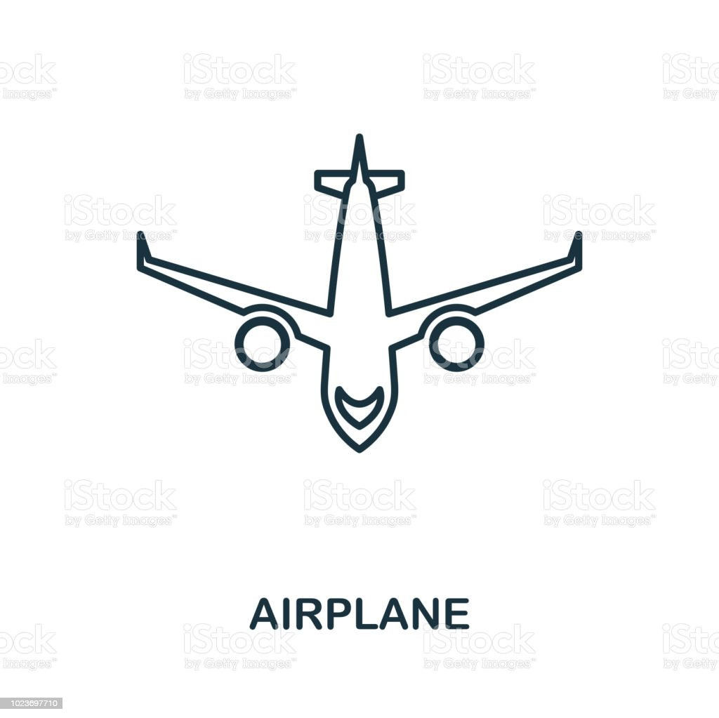Aircraft Outline Icon Simple Element Illustration Aircraft Icon Sign