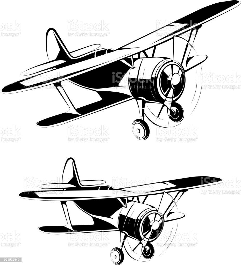 Aircraft silhouettes icons aircraft silhouettes icons – cliparts vectoriels et plus d'images de aile d'avion libre de droits