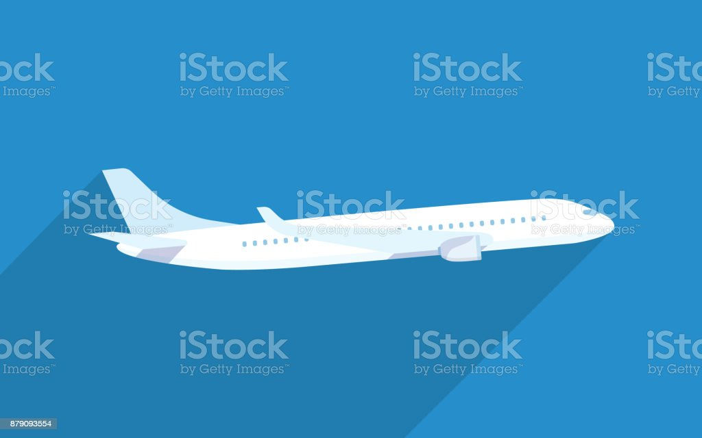 Aircraft vector flat illustrations