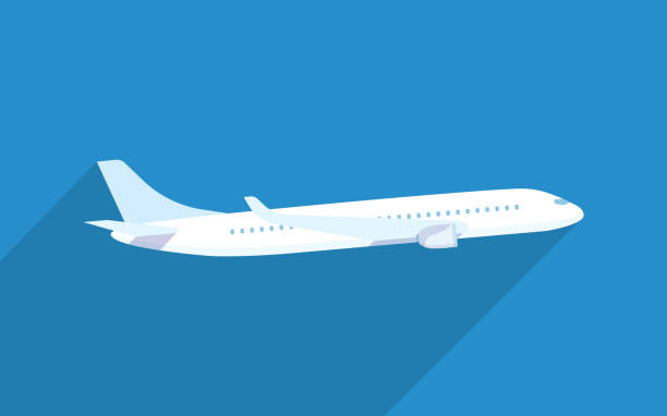 aircraft vector flat illustrations - airplane stock illustrations, clip art, cartoons, & icons