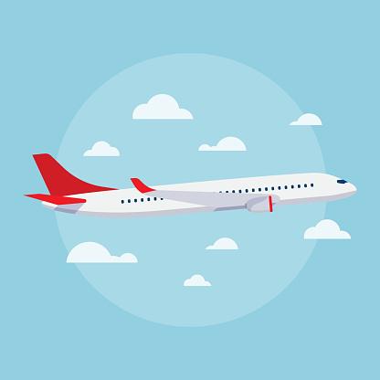 Aircraft vector flat illustrations