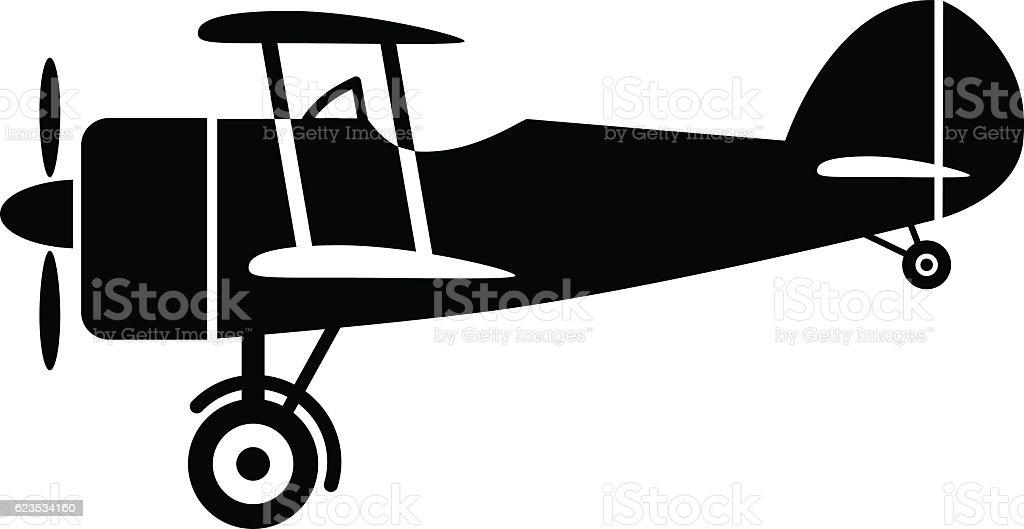 Aircraft vector icon vector art illustration