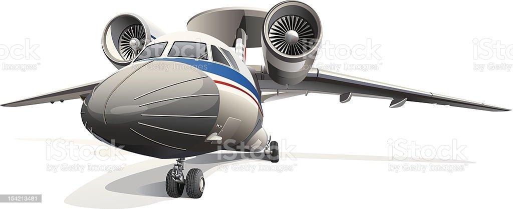 AWACS Aircraft vector art illustration