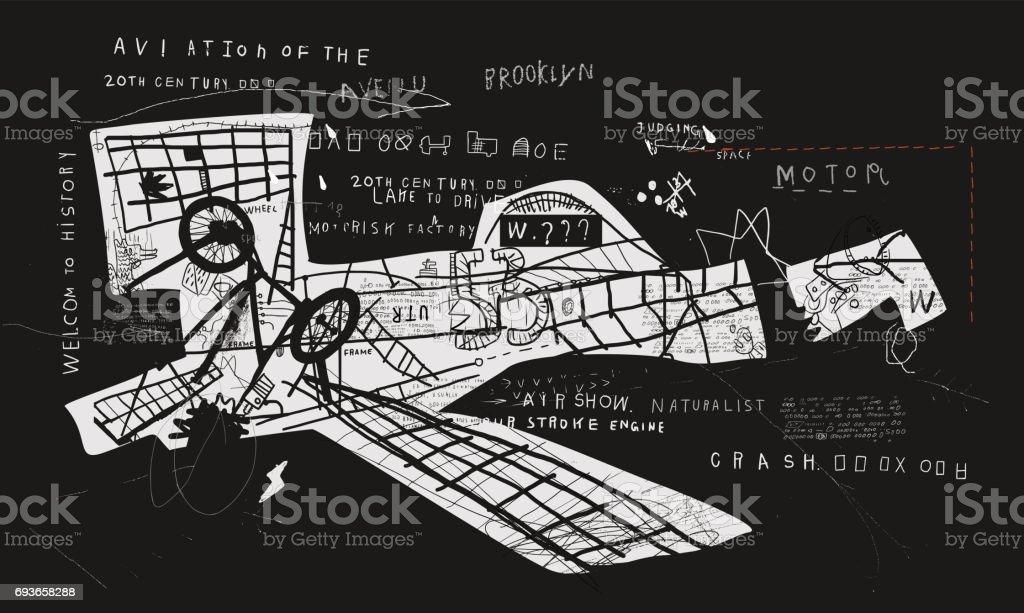 Aircraft vector art illustration