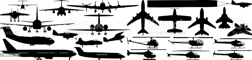 Aircraft vector art illustration