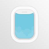 Aircraft window vector.