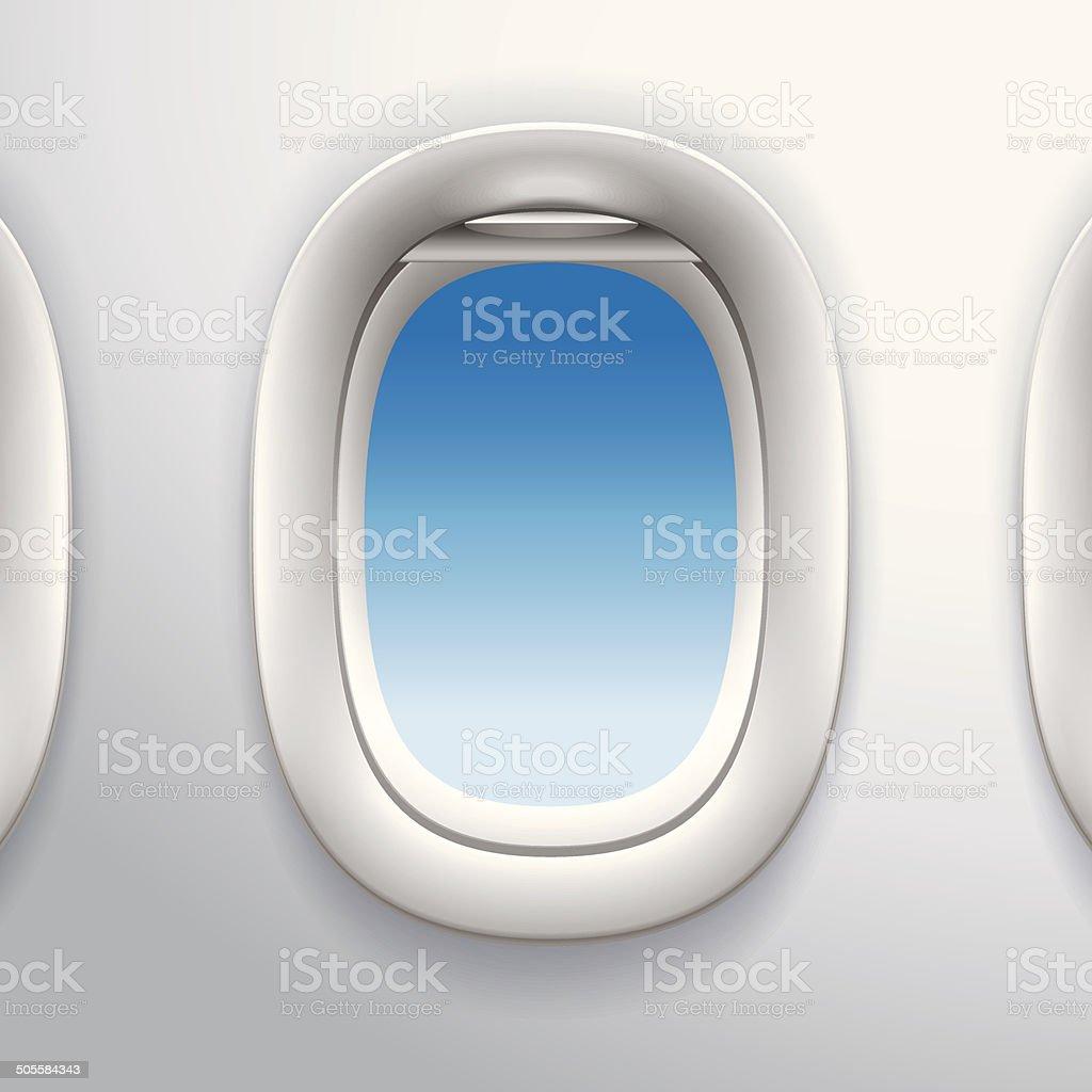 Flugzeug Fenster Flugzeugfenster Stock Vektor Art und mehr Bilder ...