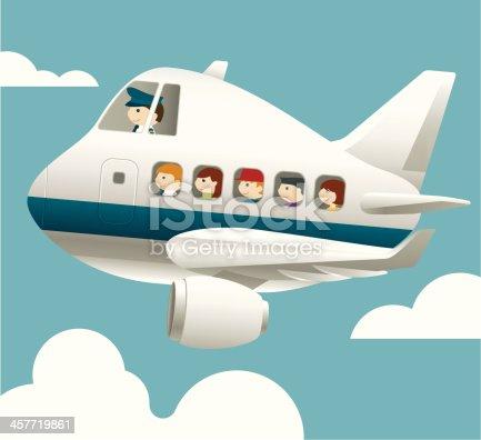 Aircraft with pilot and passenger
