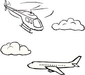 Aircrafts in the sky