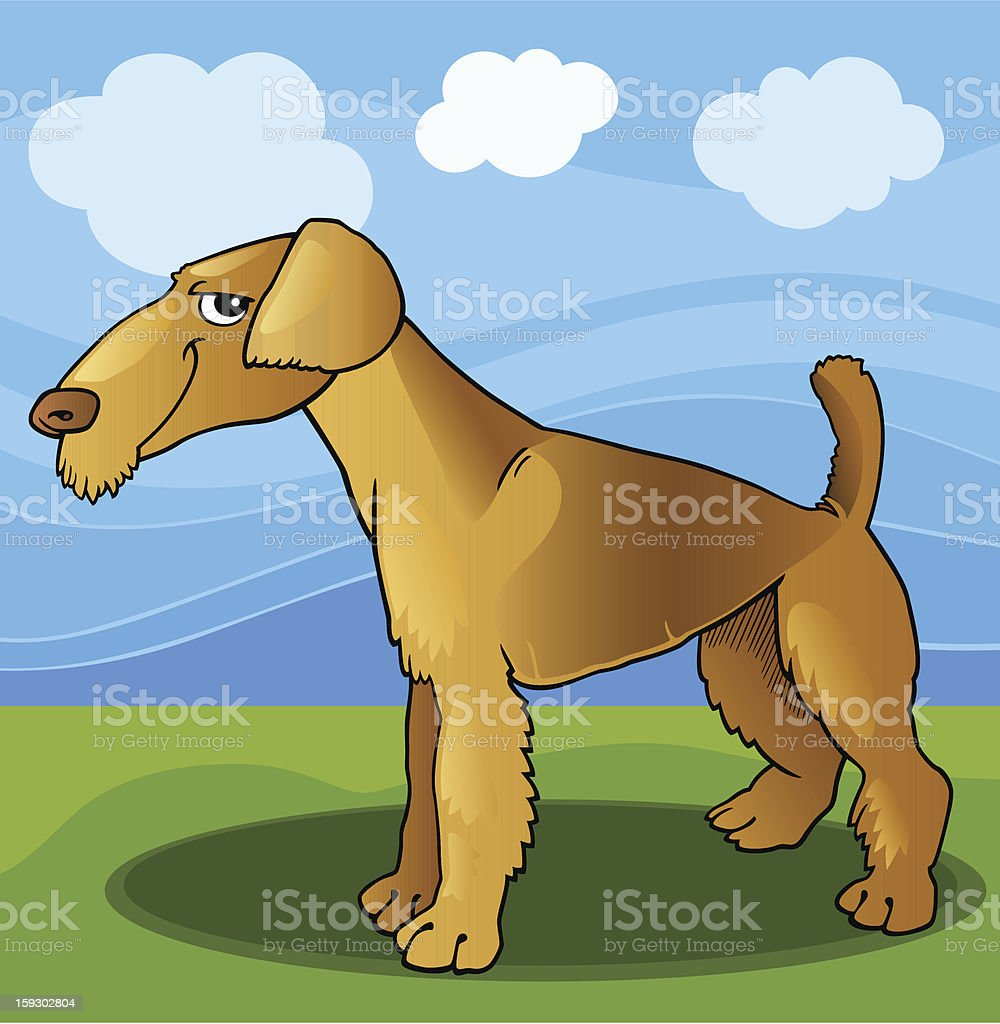 airedale terrier dog cartoon illustration royalty-free airedale terrier dog cartoon illustration stock vector art & more images of airedale terrier