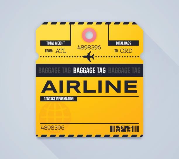 Airline Gepäckschein – Vektorgrafik