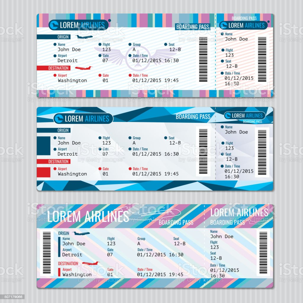 Nichtbeförderung übergeben Eintrittskarten Vektorvorlage Vektor ...