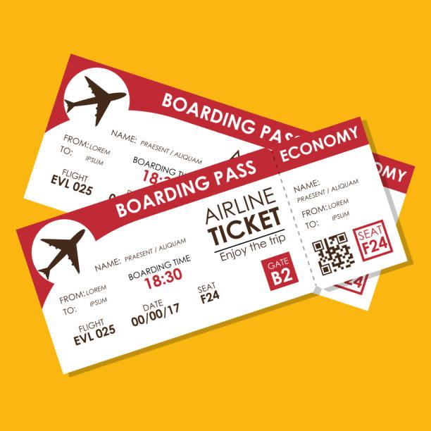 icono de vuelo Airline ticket - ilustración de arte vectorial