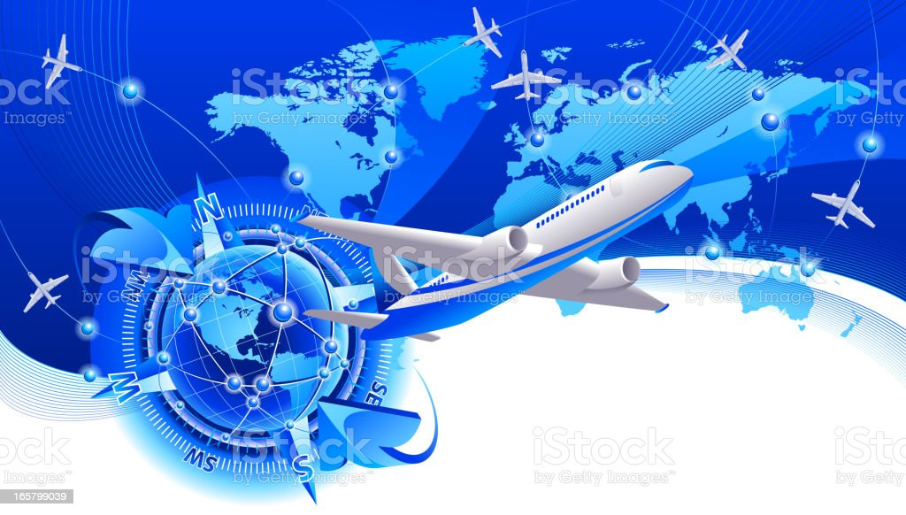 Airline travel royalty-free stock vector art