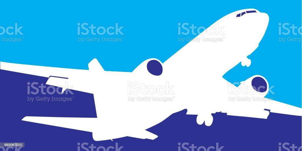 Airliner Icon vector art illustration