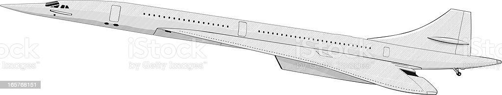 Airliner passenger airplane vector art illustration