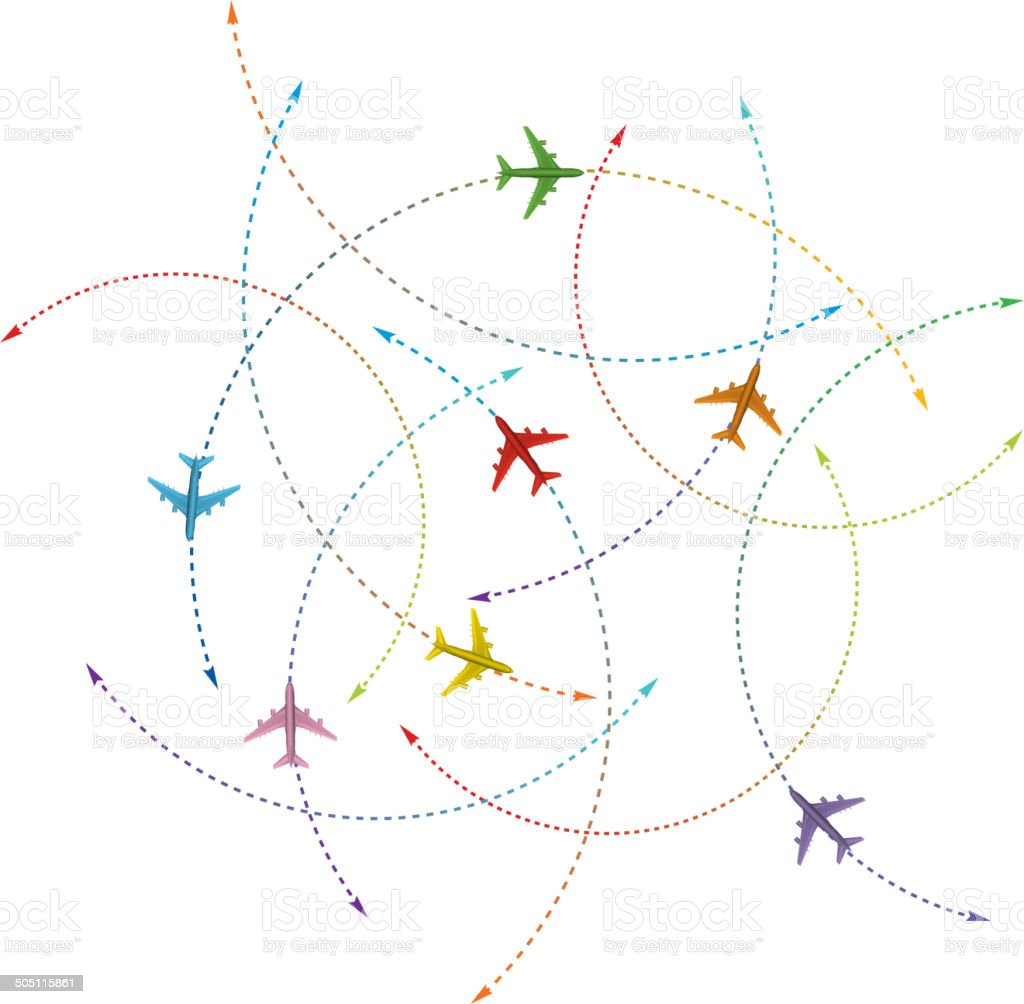 Airlines vector art illustration