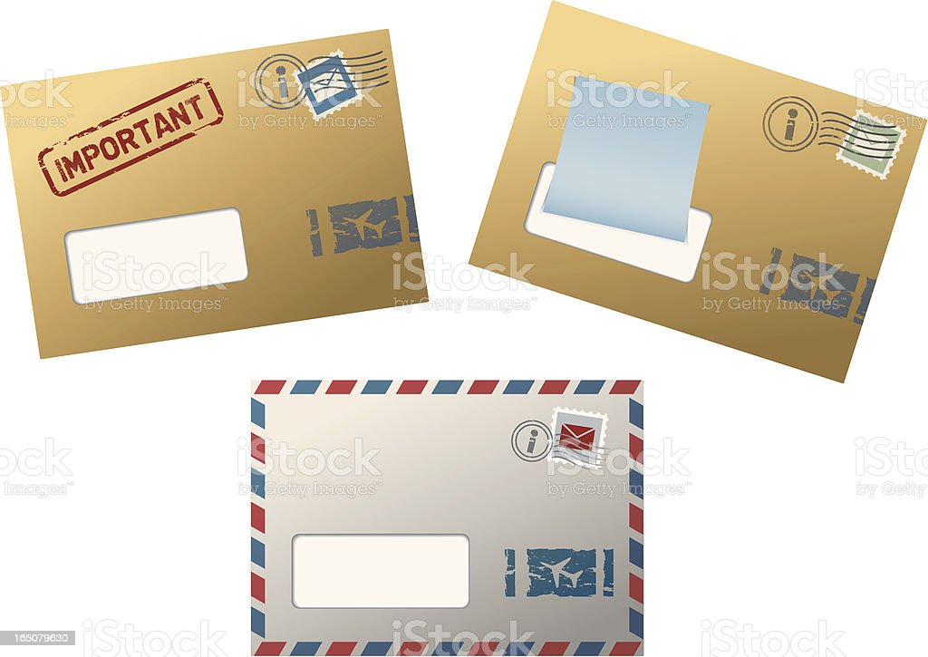 Airmail royalty-free stock vector art