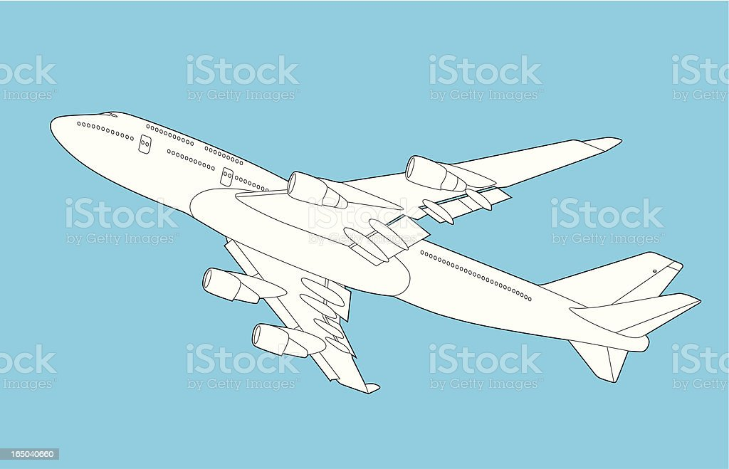 Airplane 747 royalty-free stock vector art