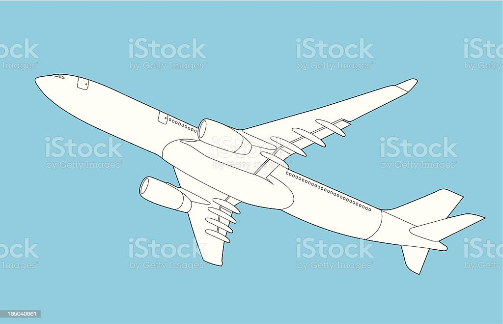 Airplane 767 royalty-free stock vector art