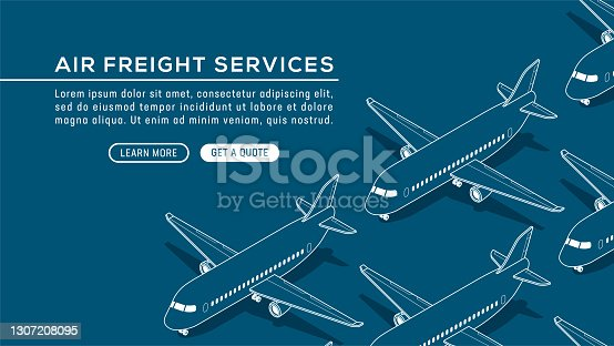 istock Airplane Airline Flight Air Travel Airport Isometric Vector Seamless Pattern 1307208095