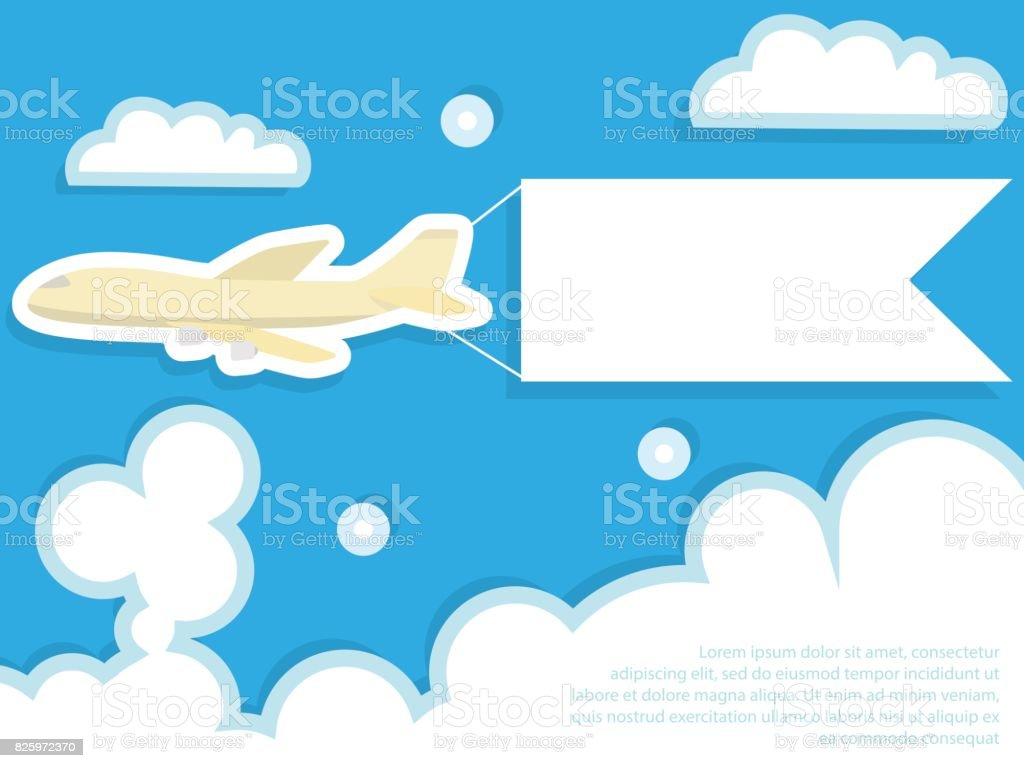 royalty free airplane flying pulling banner clip art vector images rh istockphoto com