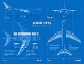 istock airplane blueprint drawing set 1201266579