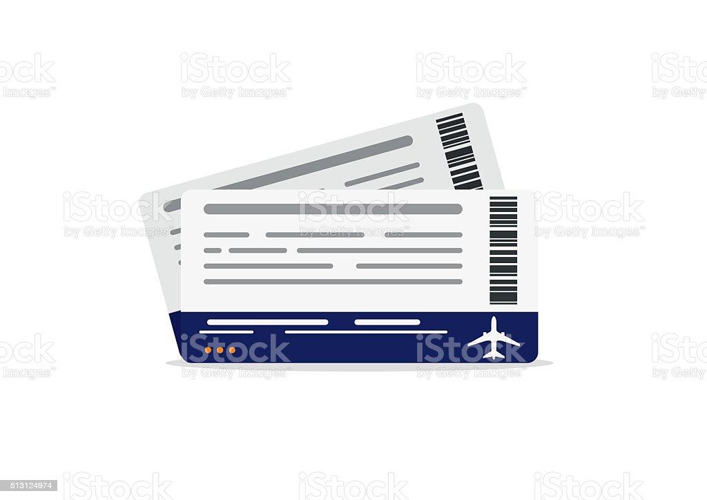 Airplane boarding pass tickets. Travel concept isolated on white background. vektorkonstillustration