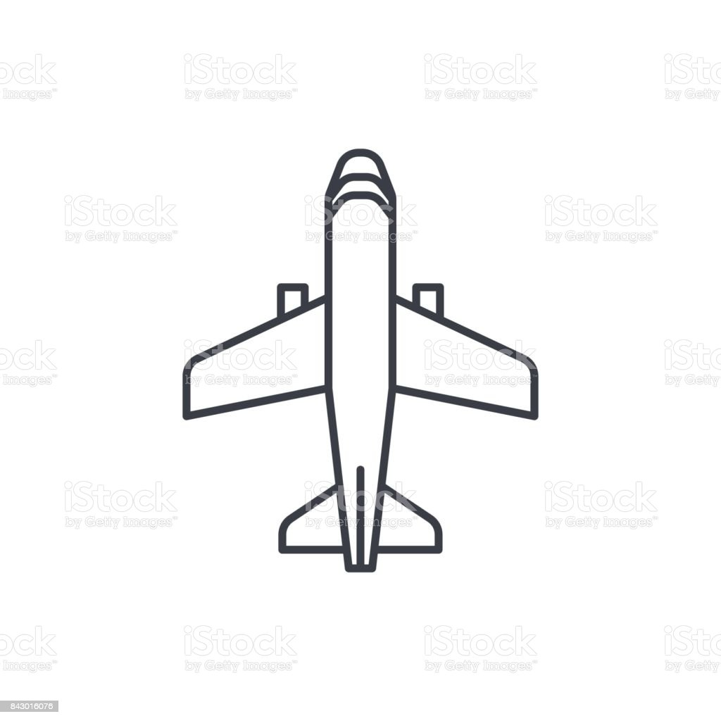 airplane, boeing plane, travel thin line icon. Linear vector symbol vector art illustration