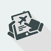 Airplane booking icon