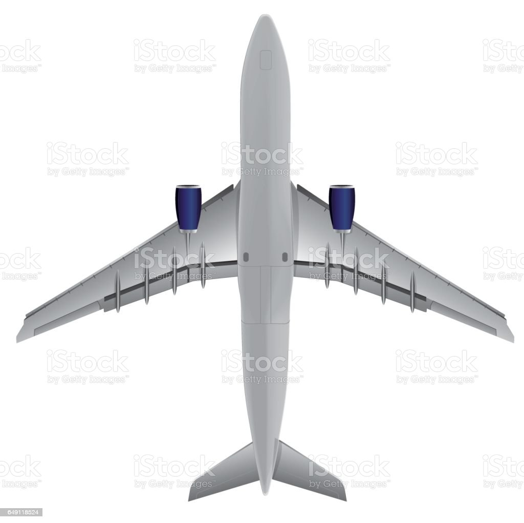 Airplane bottom view, Illustration Vector eps10 vector art illustration