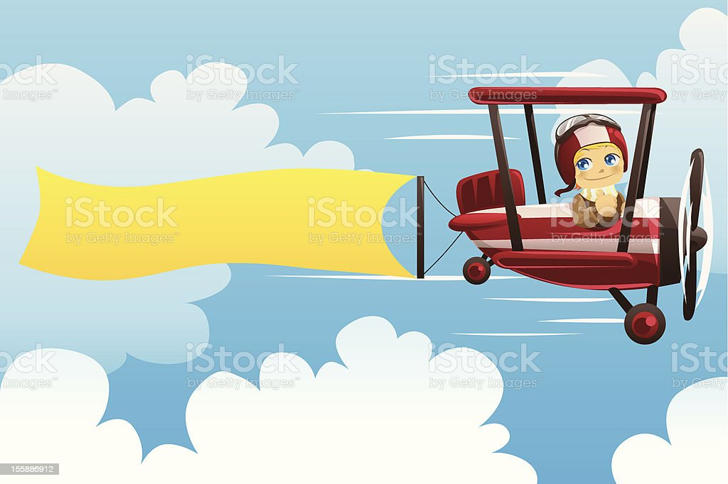 Airplane carrying banner royalty-free airplane carrying banner stock vector art & more images of adult