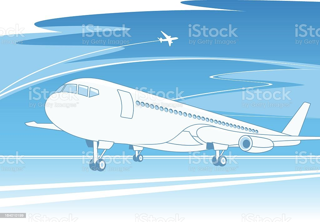 Airplane concept royalty-free stock vector art