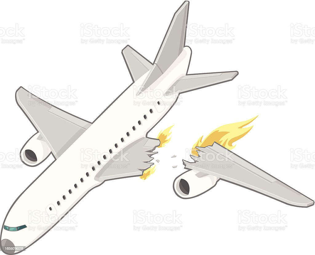 Airplane Crash Stock Vector Art & More Images of Accidents and ...
